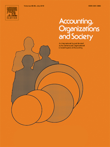 Accounting, Organizations and Society journal cover